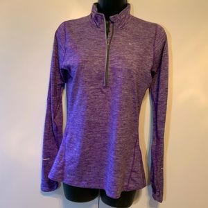 Nike DRI Fit Top, Long Sleeved Purple Size X Small